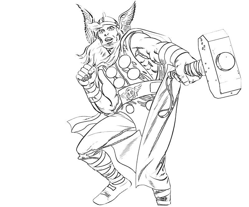 Thor Coloring Sheets For Boys  25 Thor Coloring Pages ColoringStar