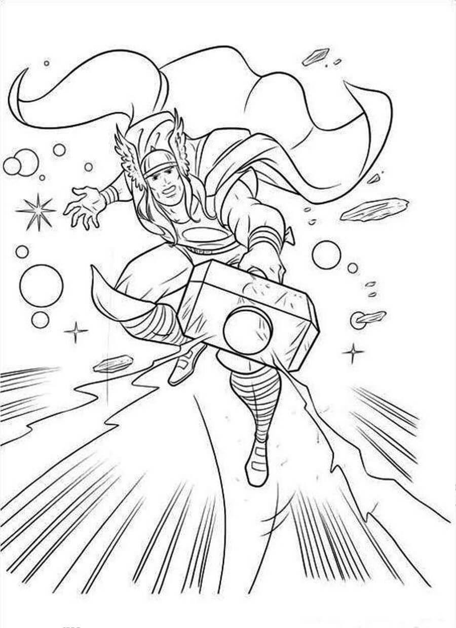 Thor Coloring Sheets For Boys  20 Unique Superhero Coloring Pages For Your Kids