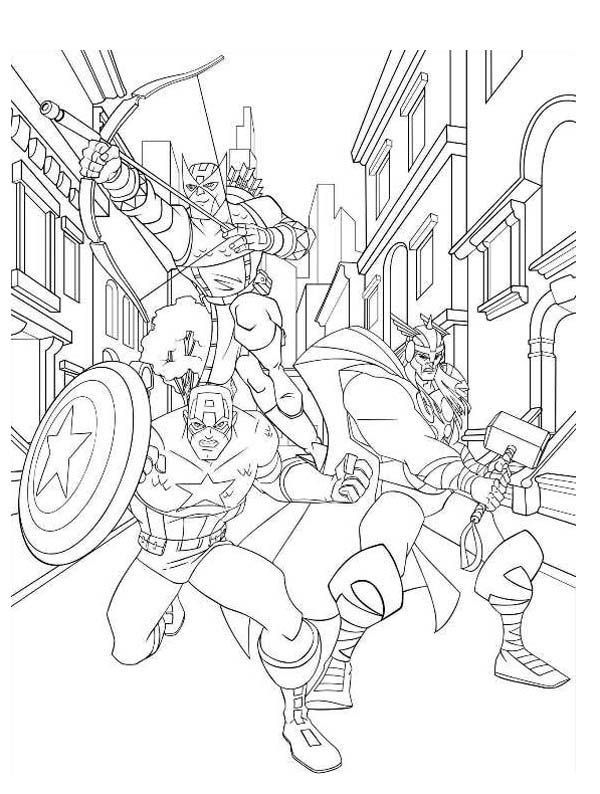Thor Coloring Sheets For Boys  153 best images about Coloring pages for kids on Pinterest