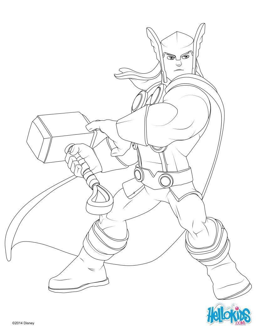 Thor Coloring Sheets For Boys  Ausmalbilder Thor Malvorlagen Ausmalbilder