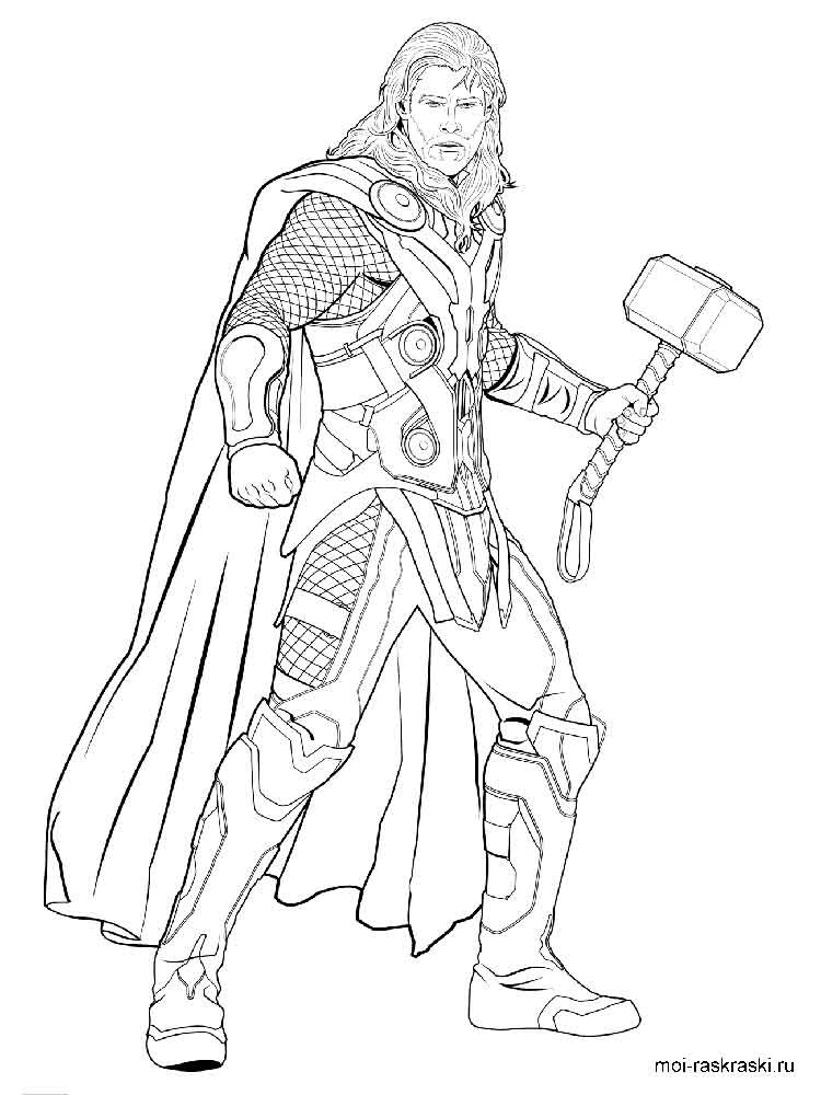 Thor Coloring Sheets For Boys  Thor coloring pages Free Printable Thor coloring pages
