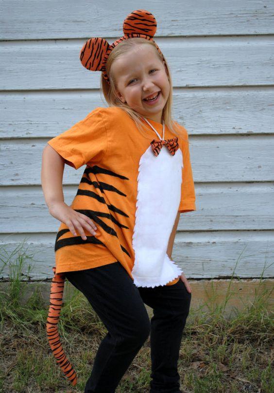 Tiger Costume DIY  tiger halloween costume I like crafting