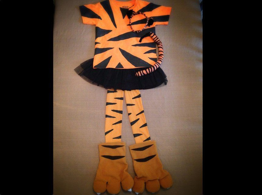 Tiger Costume DIY  DIY Halloween costume cute projects