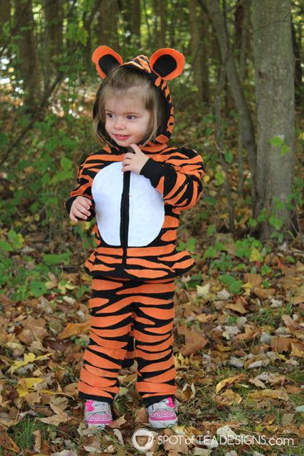 Tiger Costume DIY  Almost No Sew Kids Tiger Halloween Costumes