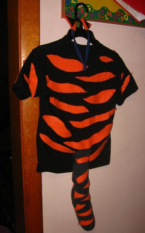 Tiger Costume DIY  Teachings of the Maples Home Simple Homemade Costumes