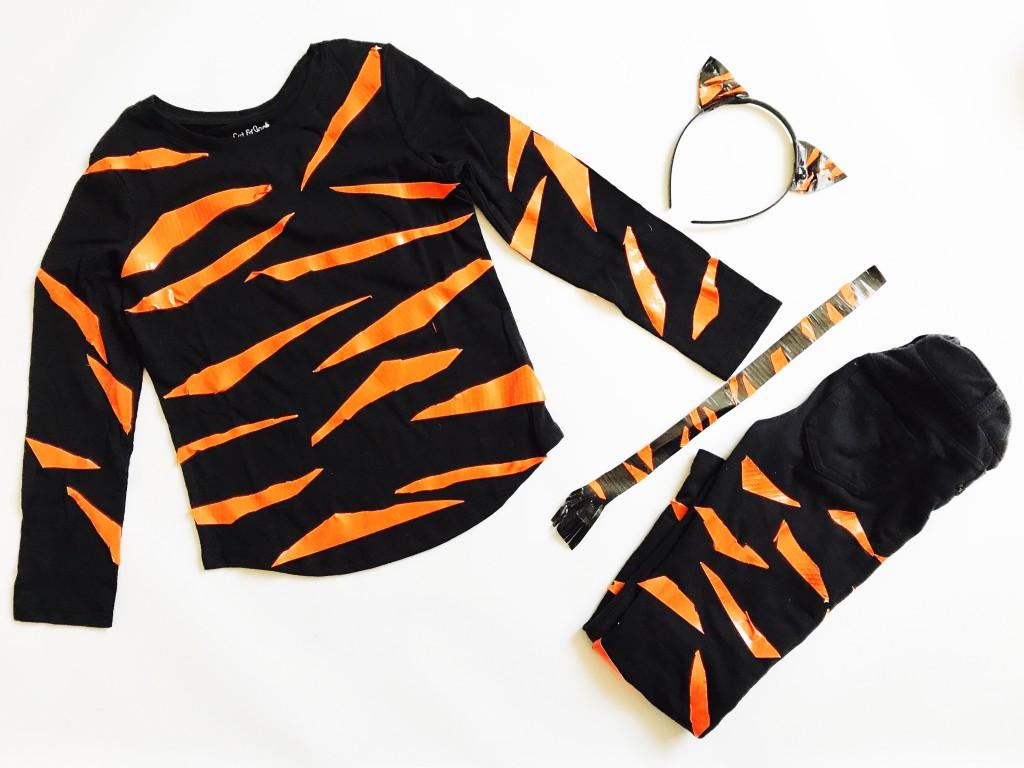 Tiger Costume DIY  DIY Tiger Halloween Costume Duck Tape