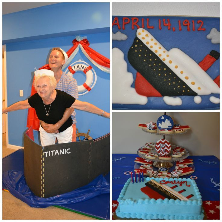 Titanic Birthday Party  Image result for titanic party decor