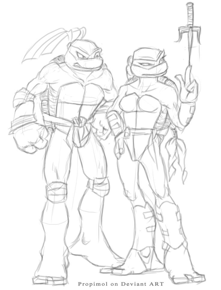 Tmnt Girls Coloring Pages  28 best Ninja Turtle Girlfriends images on Pinterest