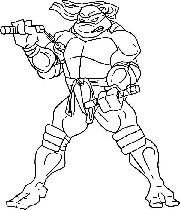 Tmnt Girls Coloring Pages  Teenage Mutant Ninja Turtles Coloring Pages Michelangelo