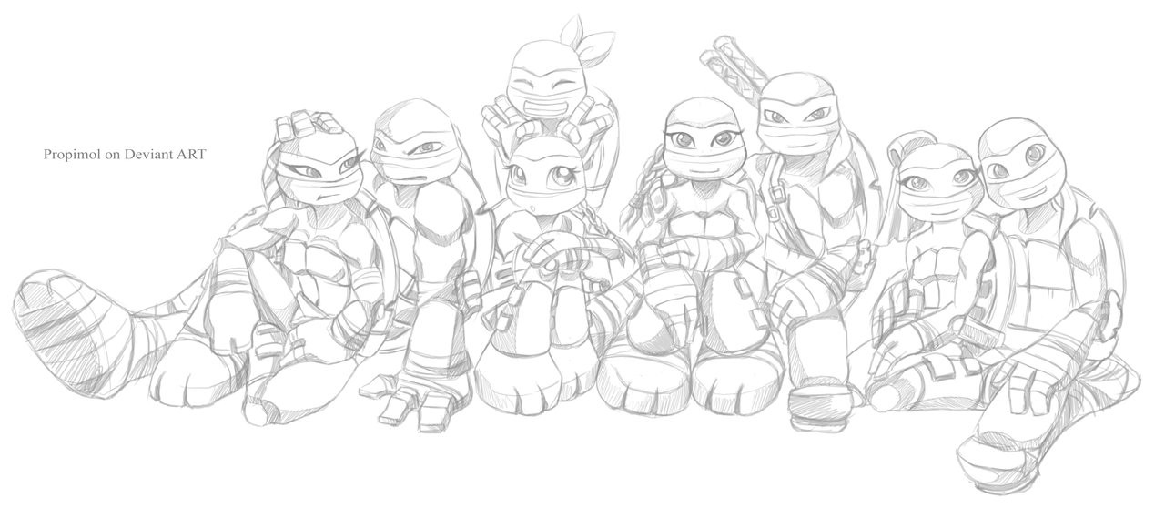 Tmnt Girls Coloring Pages  TMNT 2012 by propimol on DeviantArt
