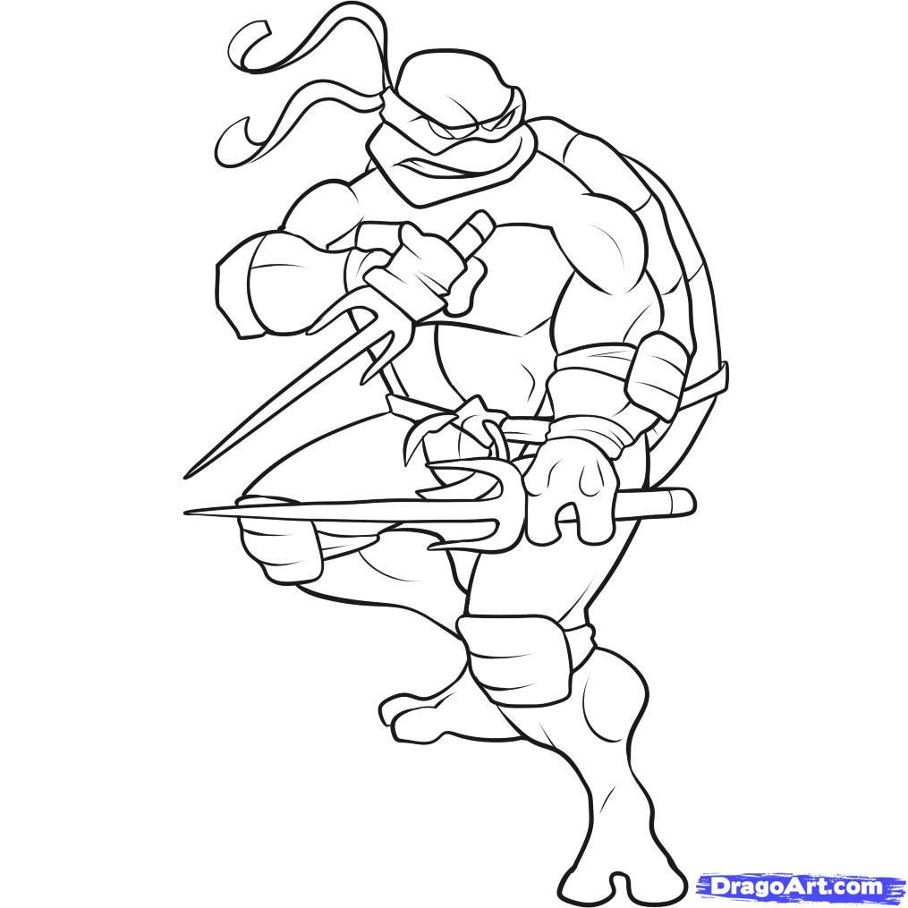 Tmnt Girls Coloring Pages  How to Draw a Ninja Turtle Step by Step Characters Pop