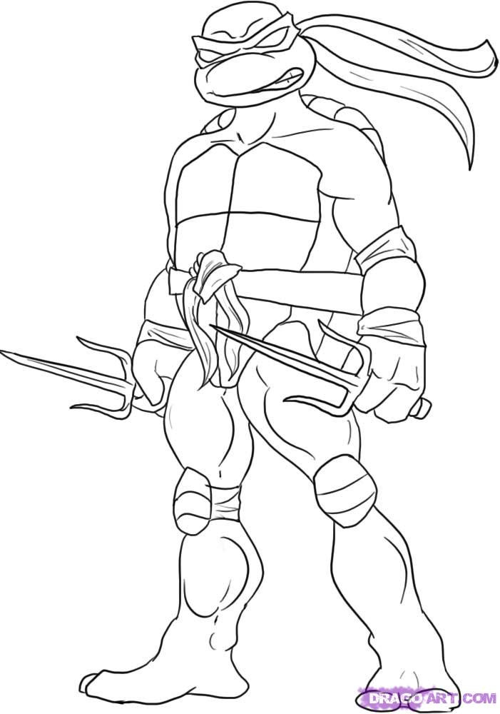 Tmnt Girls Coloring Pages  Raphael