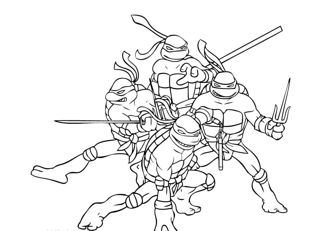 Tmnt Girls Coloring Pages  Ninja turtles coloring pages from animated cartoons of