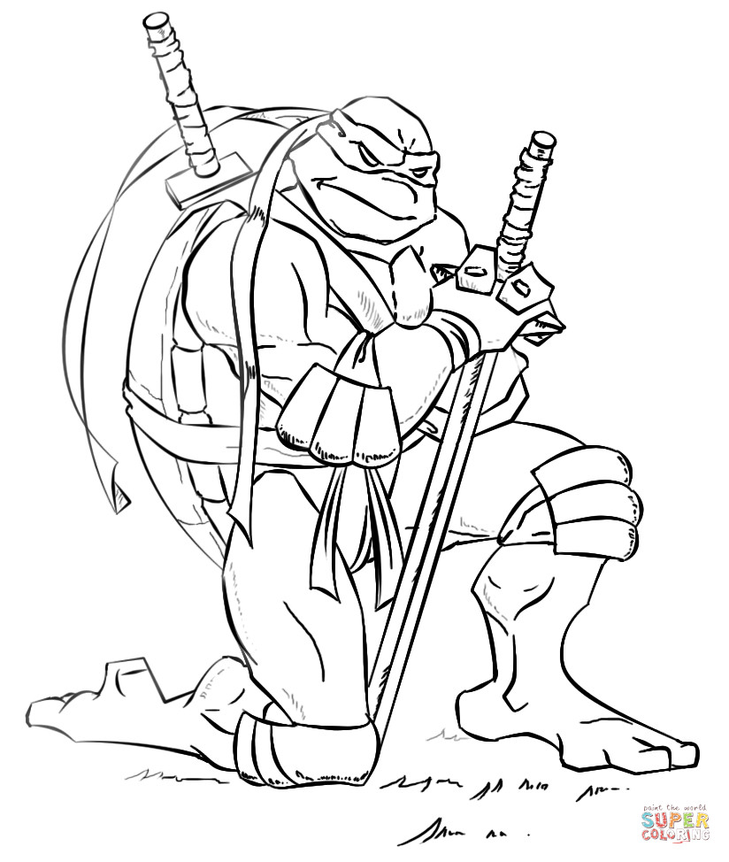 Tmnt Girls Coloring Pages  Leonardo from Ninja Turtles coloring page