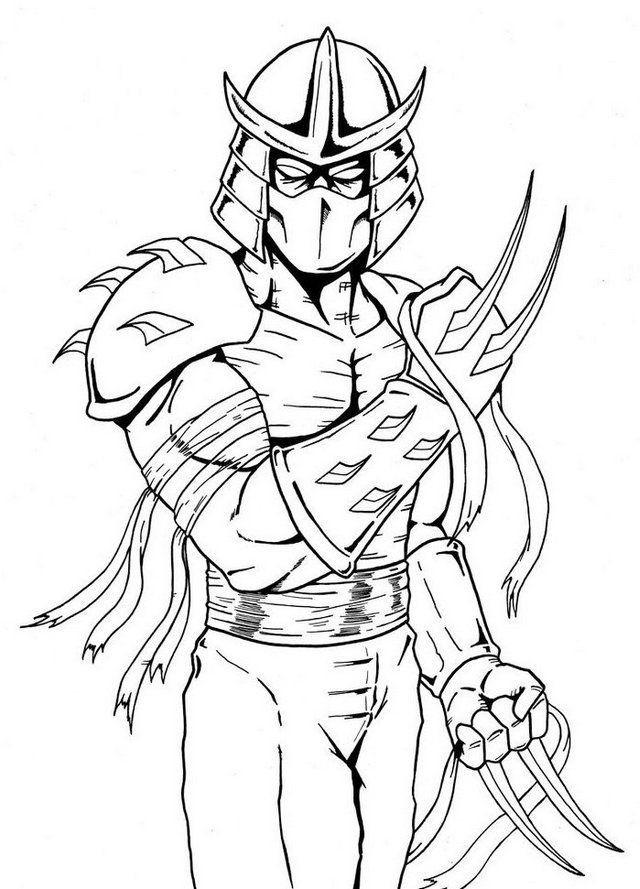 Tmnt Girls Coloring Pages  Shredder Teenage Mutant Ninja Turtles Coloring Page