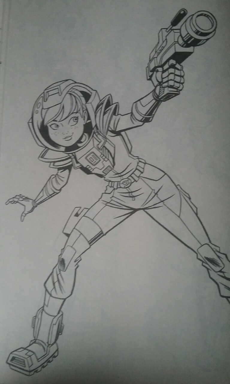 Tmnt Girls Coloring Pages  TMNT Space April Coloring Page by NinjaTurtleFangirl on