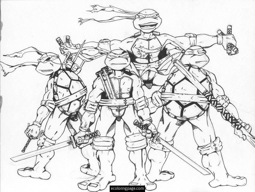 Tmnt Girls Coloring Pages  Teenage Mutant Ninja Turtles Free Coloring Page Printable
