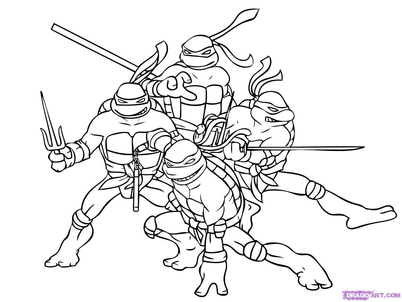 Tmnt Girls Coloring Pages  Ninja turtles coloring pages ninja turtles