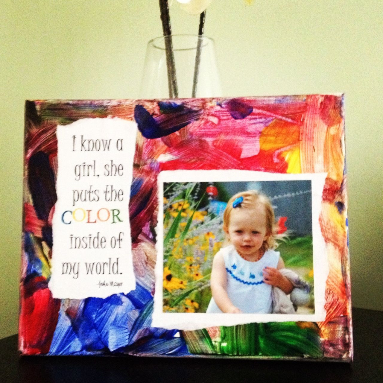 Toddler Artwork Ideas  My toddler painted this canvas then I Mod Podged the