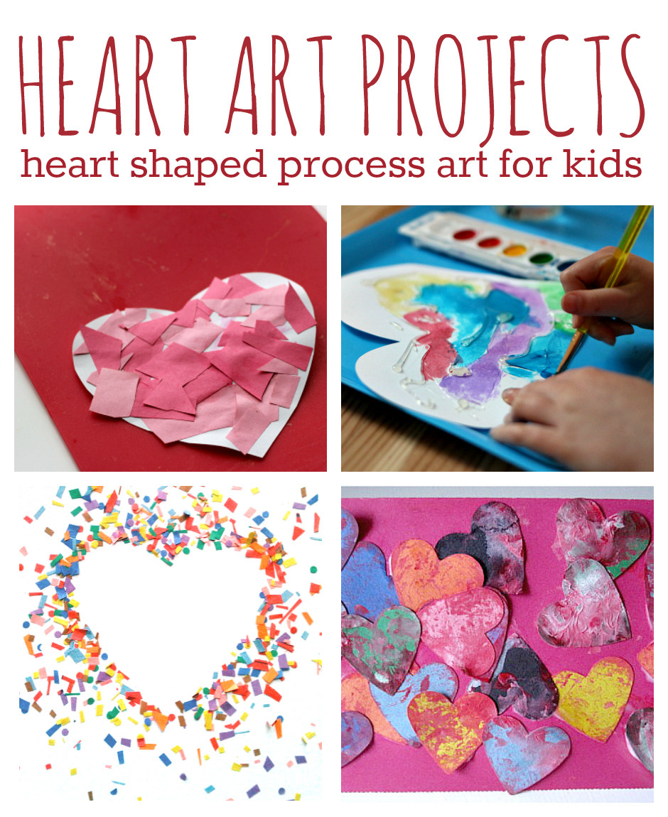 Toddler Artwork Ideas  11 Heart Art Projects For Kids No Time For Flash Cards