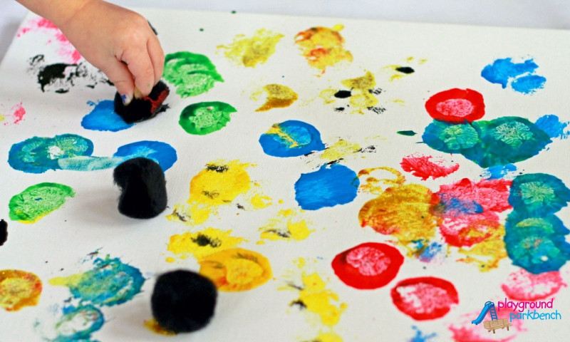 Toddler Artwork Ideas  SPLAT Toddler Process Art Inspired by Pollock