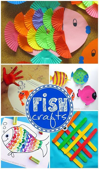 Toddler Artwork Ideas  Creative Little Fish Crafts for Kids Fun for ocean themed