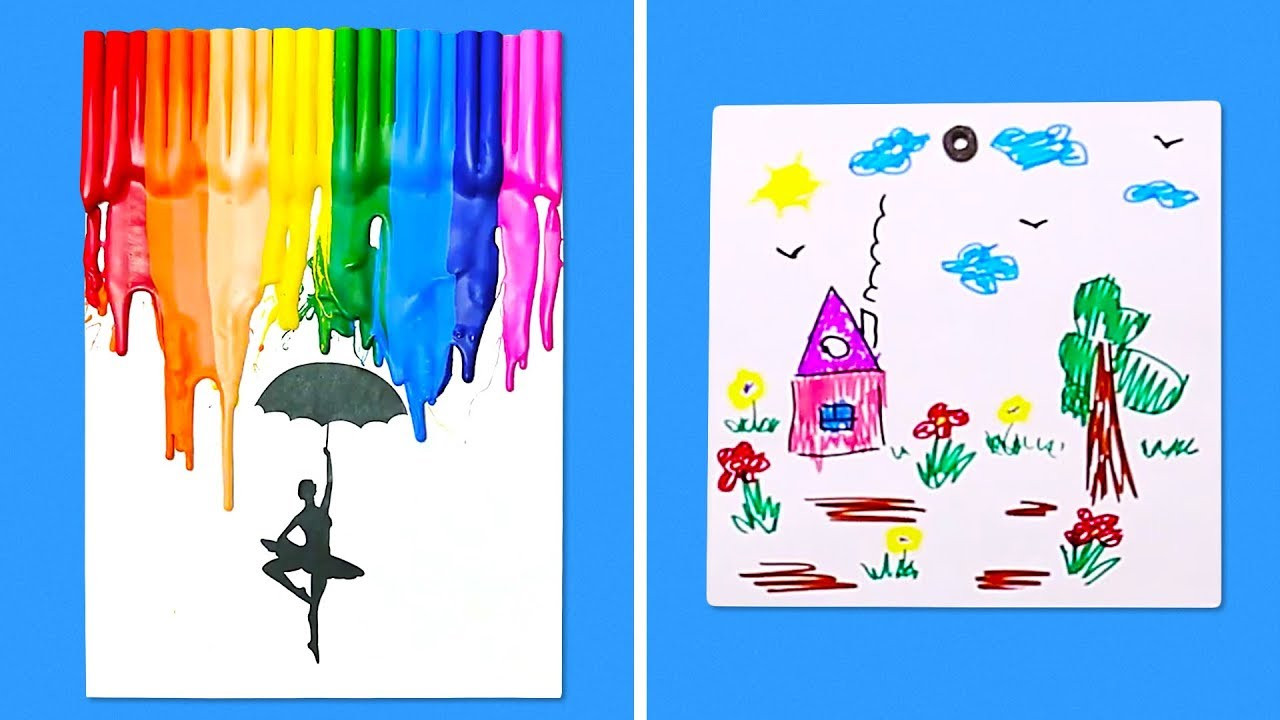 Toddler Artwork Ideas  11 UNIQUE IDEAS FOR KIDS ART PROJECTS