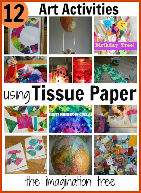 Toddler Artwork Ideas  12 Art Activities using Tissue Paper The Imagination Tree