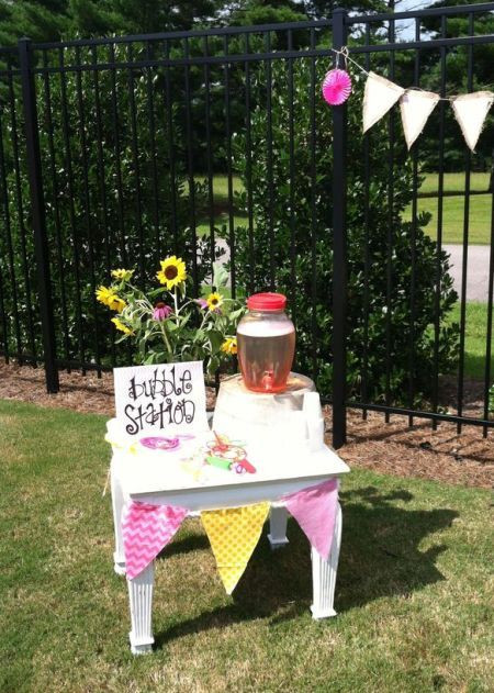 Toddler Backyard Birthday Party Ideas  A bubble station is a perfect activity for a 1st birthday