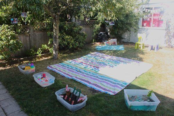 Toddler Backyard Birthday Party Ideas  Gracen s 2nd Backyard Birthday Bash
