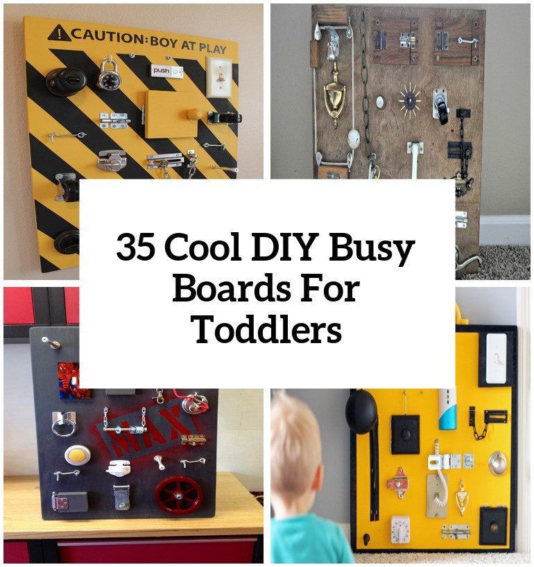 Toddler Busy Board DIY  35 Cool And Easy DIY Busy Boards For Toddlers Shelterness