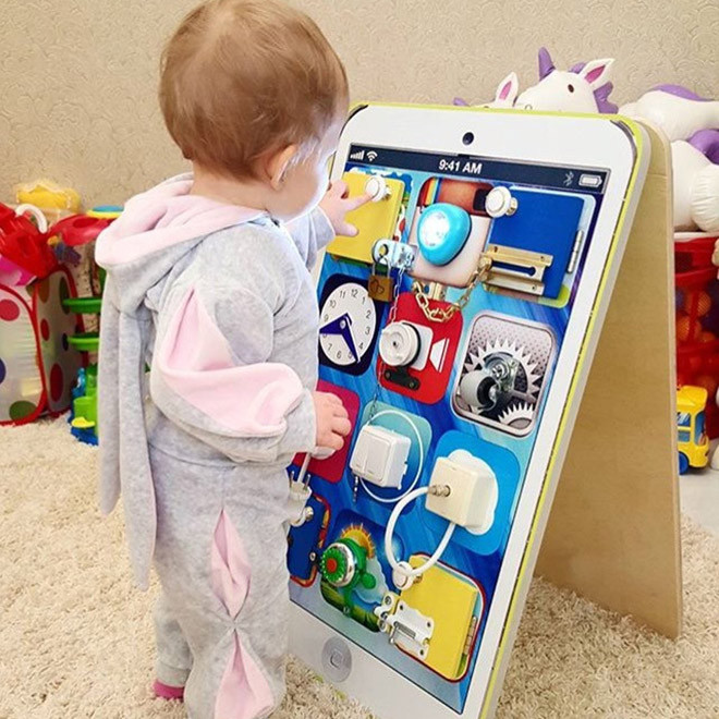 Toddler Busy Board DIY  17 DIY busy boards to make at home