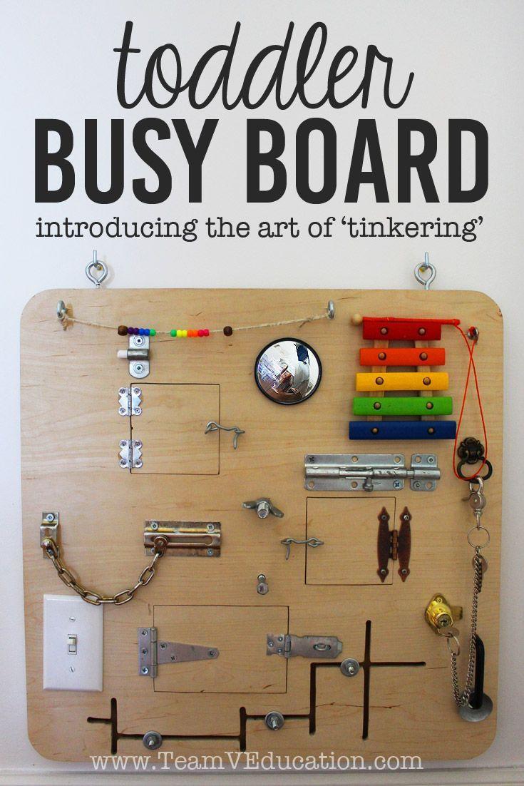 Toddler Busy Board DIY  Best 25 Toddler busy board ideas on Pinterest