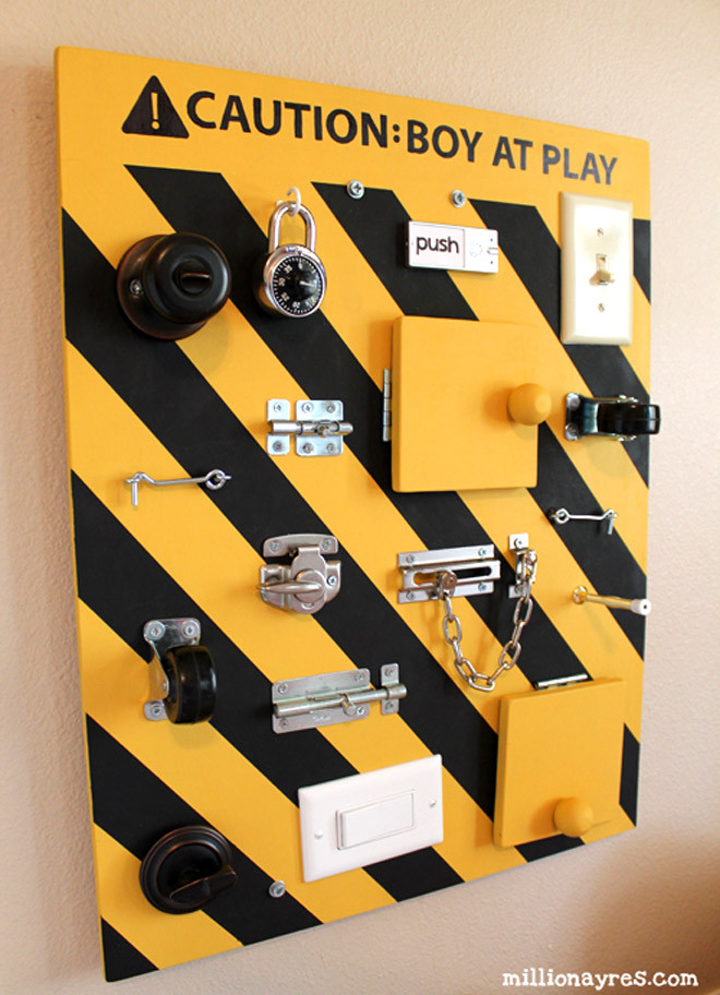 Toddler Busy Board DIY  17 DIY busy boards for active toddlers