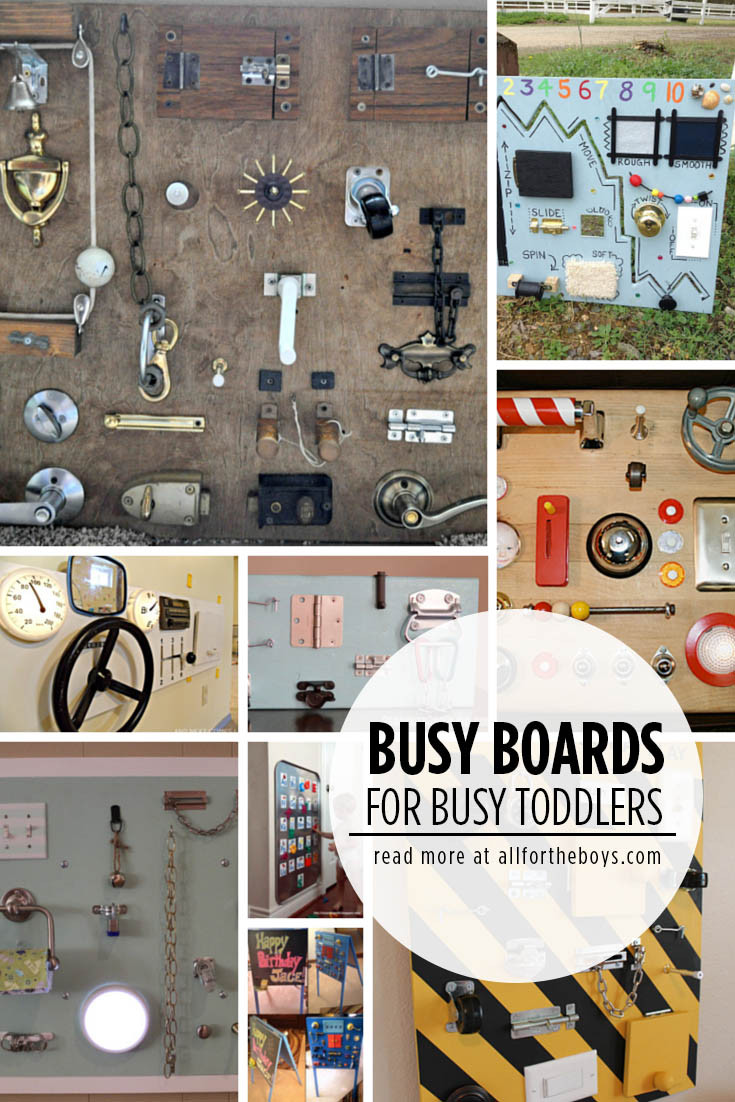 Toddler Busy Board DIY  Busy Boards for Busy Toddlers — All for the Boys
