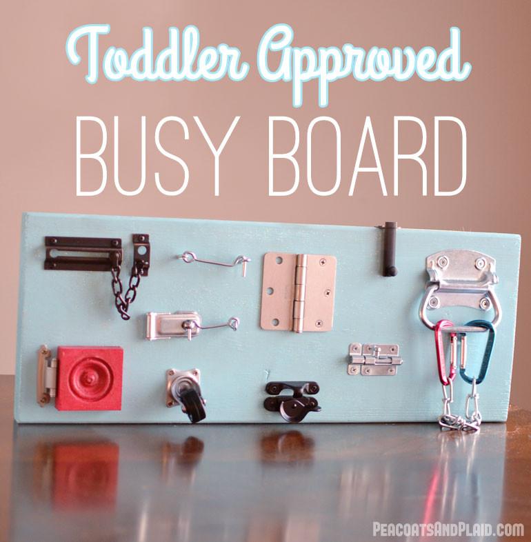 Toddler Busy Board DIY  Toddler Busy Latch Board [TUTORIAL] Bre Pea