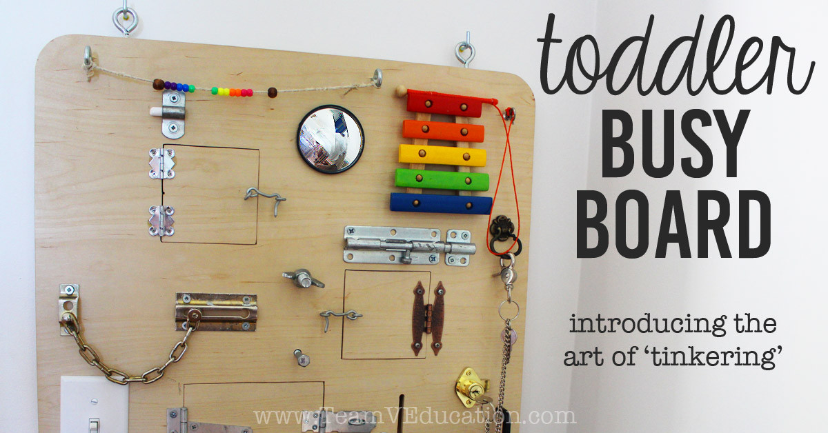 Toddler Busy Board DIY  Parenting & Life Archives Team V Education