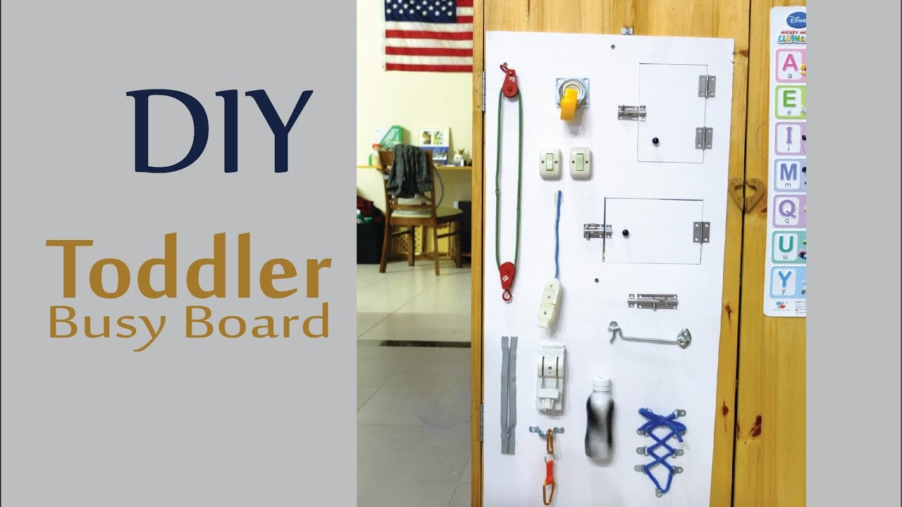 Toddler Busy Board DIY  DIY Busy Board for Baby and Children