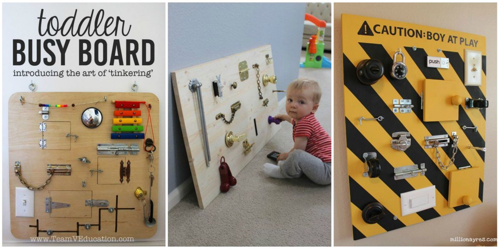 Toddler Busy Board DIY  This DIY Toddler Busy Board Will Keep Little es Busy for