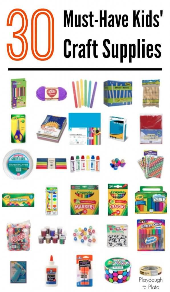 Toddler Craft Supplies  30 Must Have Kids Craft Supplies Playdough To Plato
