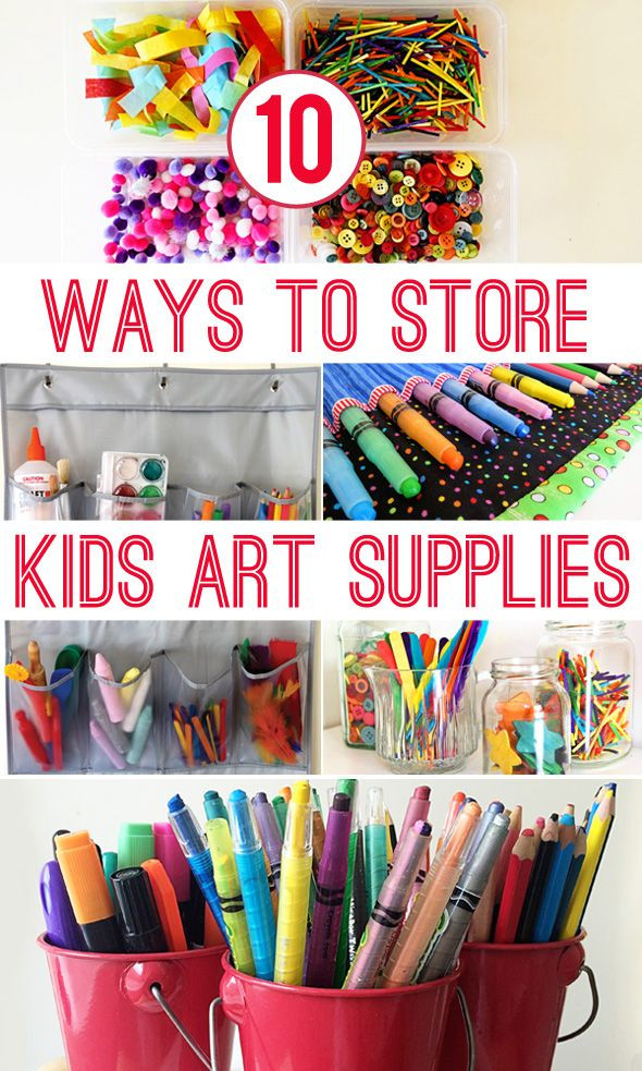 Toddler Craft Supplies  10 Ways to Store Kids Art Materials Ikea Hacks