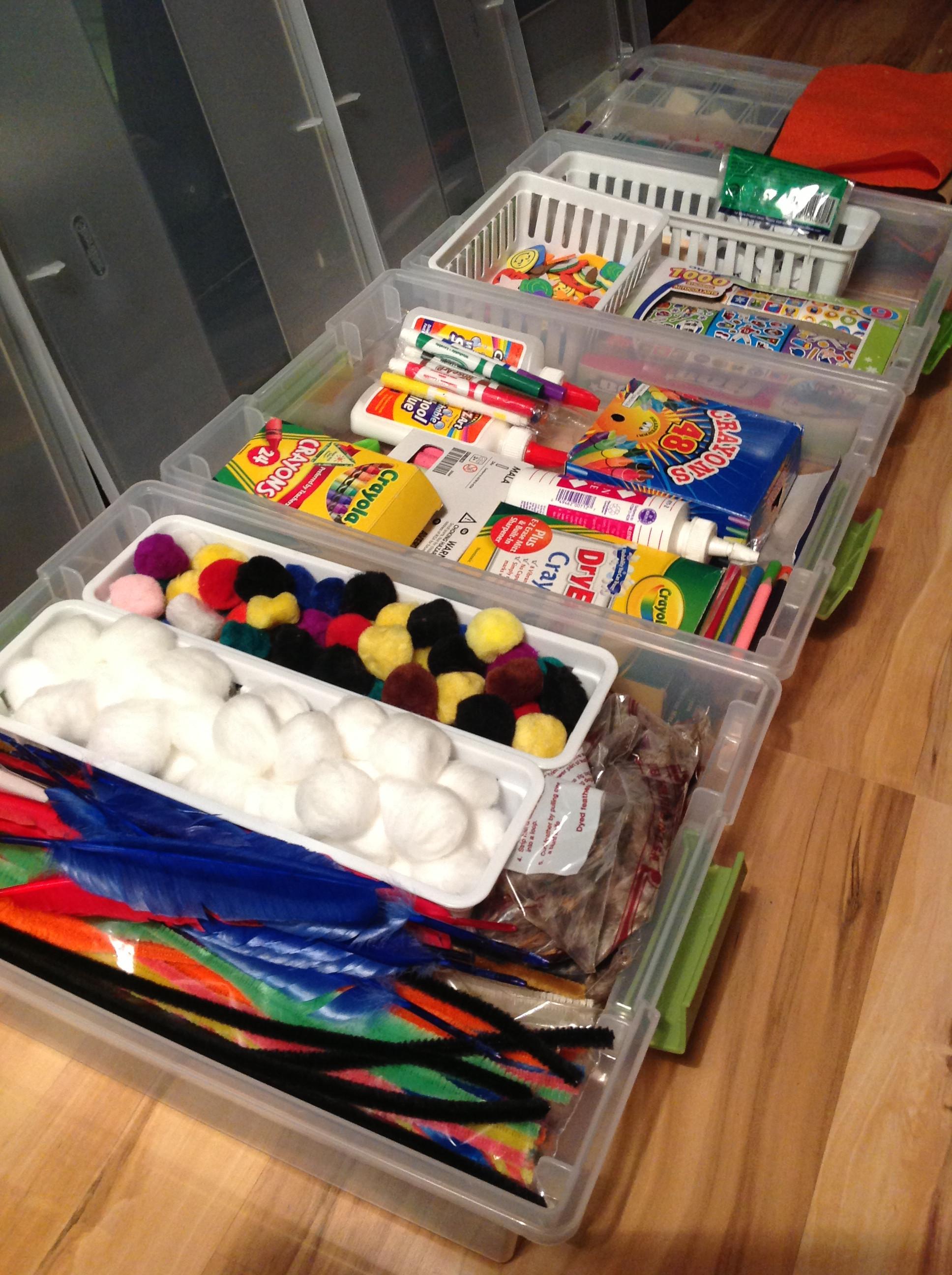 Toddler Craft Supplies  Kid's Craft Organization
