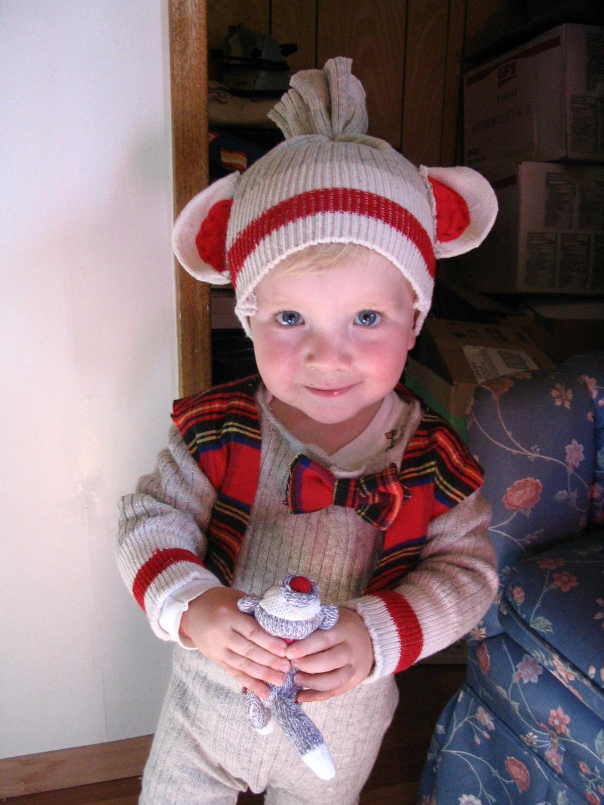Toddler DIY Costumes  Sock Monkey costume for toddler