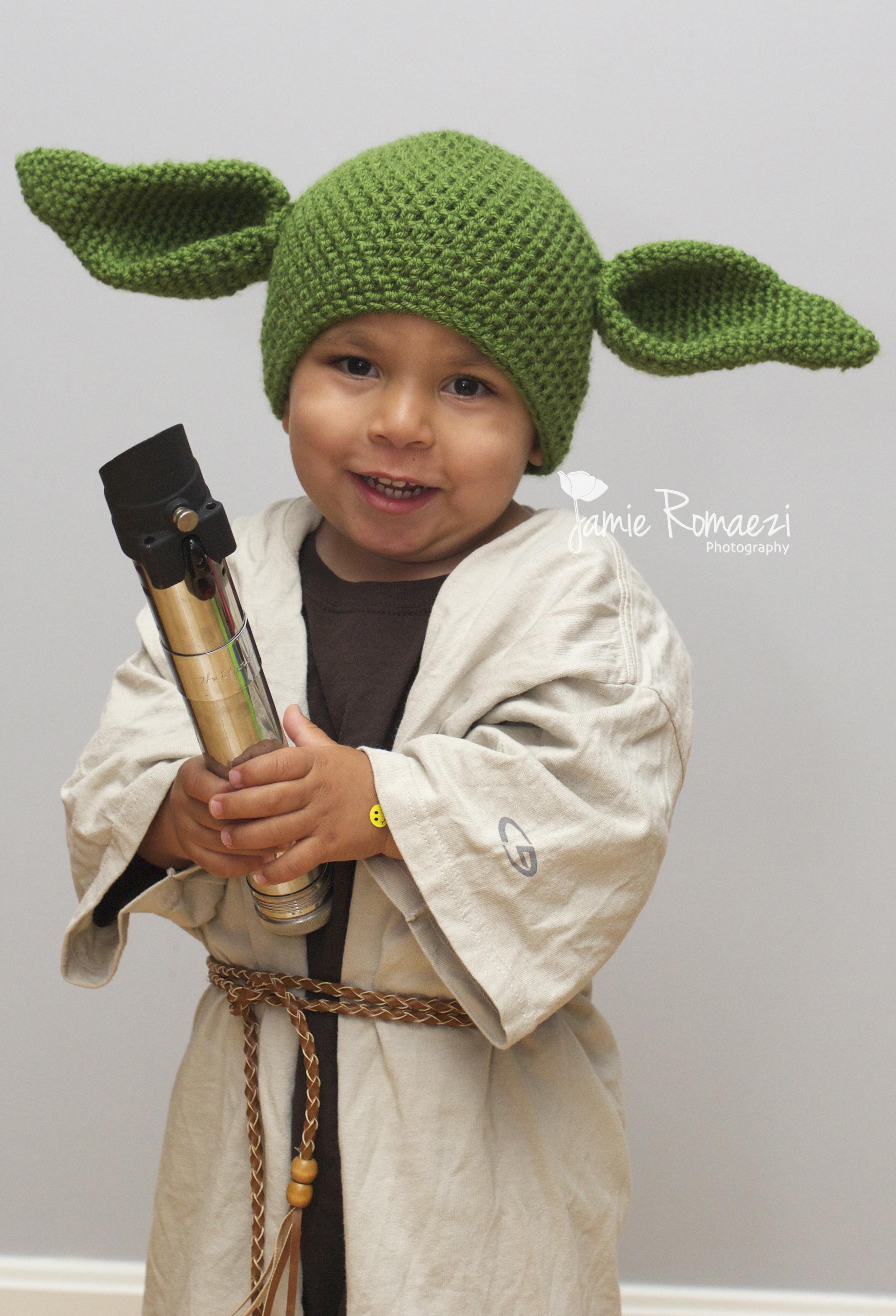 Toddler DIY Costumes  Halloween 2013 Easy Homemade Toddler Yoda Costume