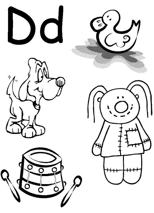 Toddler Letter S Coloring Sheets Preschool  Letter D Worksheet Preschool at home