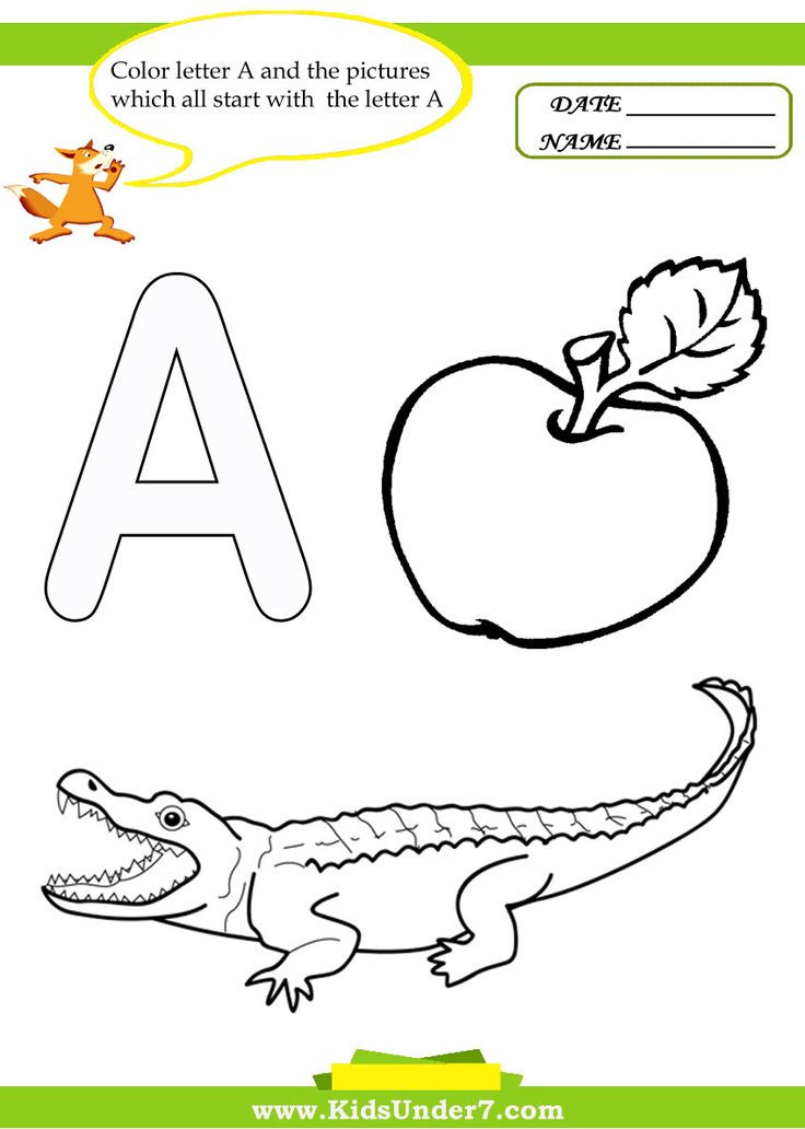 Toddler Letter S Coloring Sheets Preschool  Kids Under 7 Letter A Worksheets and Coloring Pages