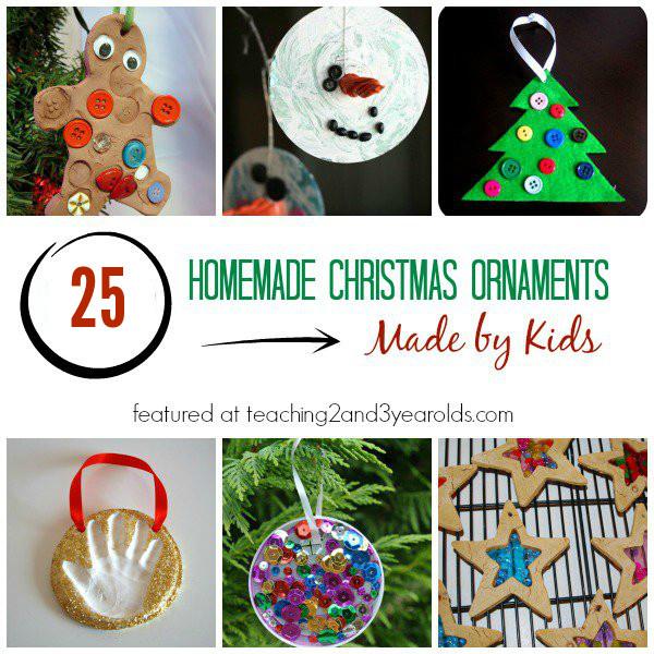 Toddler Made Christmas Gifts  25 Homemade Christmas Ornaments for Kids