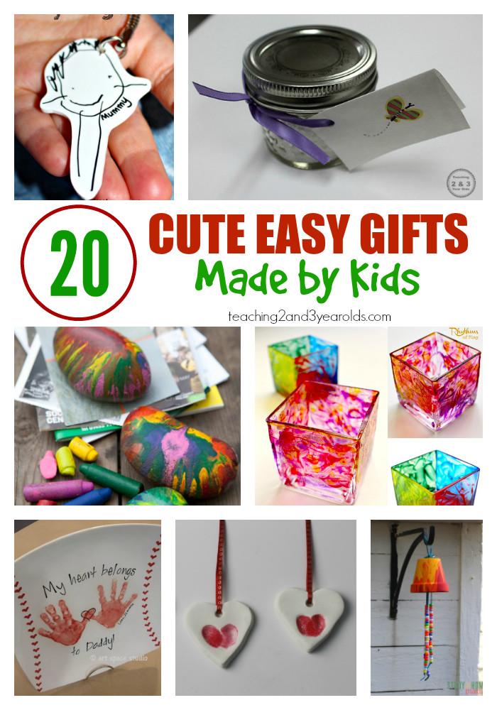 Toddler Made Christmas Gifts  20 Easy Kid Made Christmas Gifts