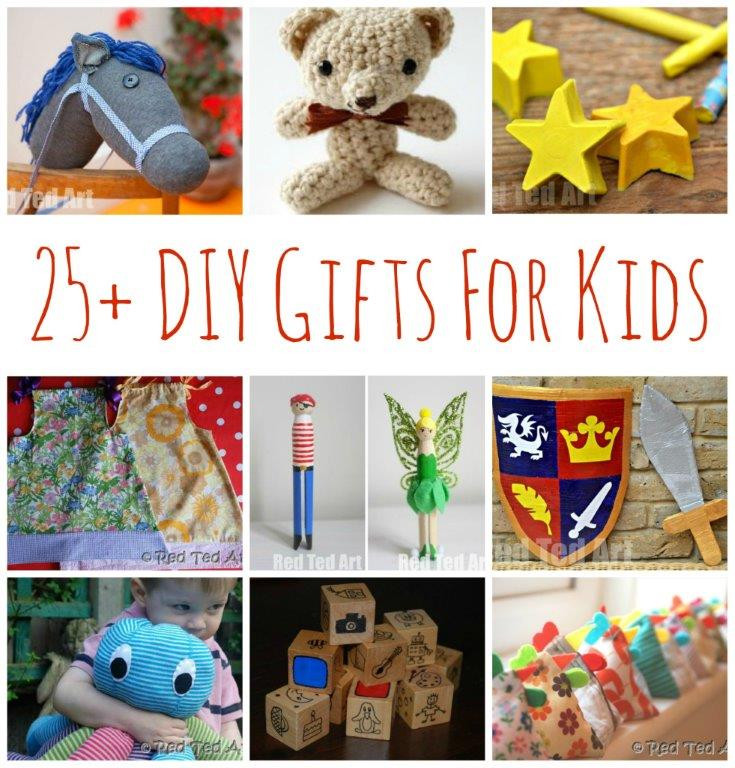 Toddler Made Christmas Gifts  25 DIY Gifts for Kids Make Your Gifts Special Red