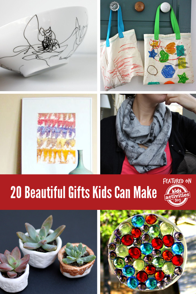 Toddler Made Christmas Gifts  20 Beautiful Gifts Kids Can Make